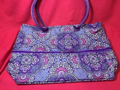 Vera Bradley Lighten Up Expandable Travel Bag/Tote Beach Lilac water resistant