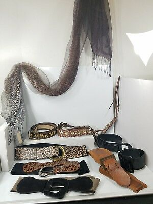Leather Leopard Patent Belts Coldwater Creek Cheetah Scarf Wholesale Mixed LOT