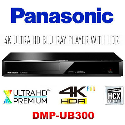 Panasonic Ultra HD Premium 4K HDR UHD Blu-ray DVD CD Player DMP-UB300GNK