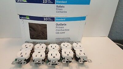 Box Of (5) New Old Stock! Leviton 15A 125V Outlets 5320-Wmp