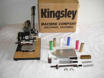Kingsley Hot Stamping Machine M-75 A with Accessories Very Nice