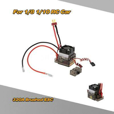320A 2~4S LiPo Battery Brushed ESC Electronic Speed Controller with 5.6V/2A D6Y4