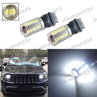 White 3157 33-SMD LED For Jeep Grand Cherokee 2011&up Compass Daytime DRL Lights
