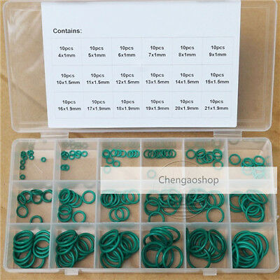180Pcs 1mm 1.5mm 1.9mm Section OD from 4mm to 21mm VITON O-Ring gaskets #Q2U ZX