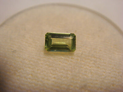 Peridot Emerald Cut Gemstone 5 mm x 3 mm 0.25 Carat Natural Gem