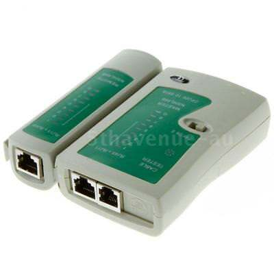 Data Networking LAN RJ45 CAT5e CAT6e RJ11 PC Ethernet Cable Tester Wire Tool
