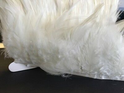 Off White Cream Rooster Feather Fringe Ribbon Trim Tassel price for 30cm Craft