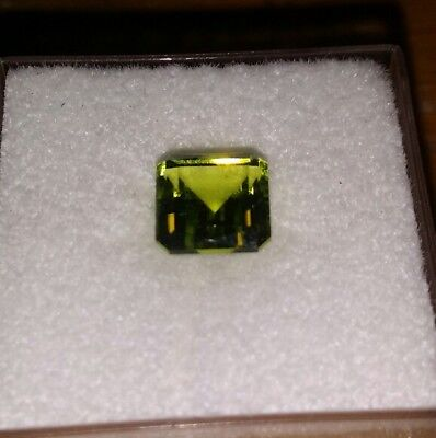 1.85 cts  faceted green peridot . Natural