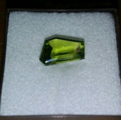 2.35 cts faceted green peridot . Natural.  From chudly park qld .