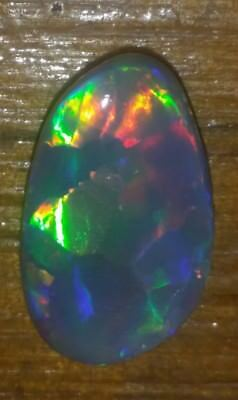 3.00 cts & polished semi black opal harlequin  . Solid opal . Natural