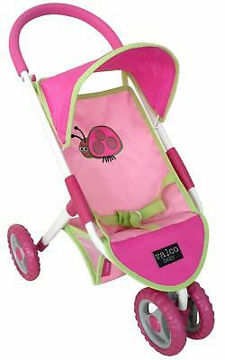 Just Like Mum Mini Lady Bug Doll Stroller (Pink) - 3+ Years - Valco Baby Free Sh