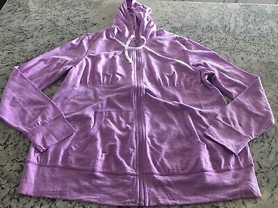 Womens Maternity Hoodie Jacket Size Xl Purple