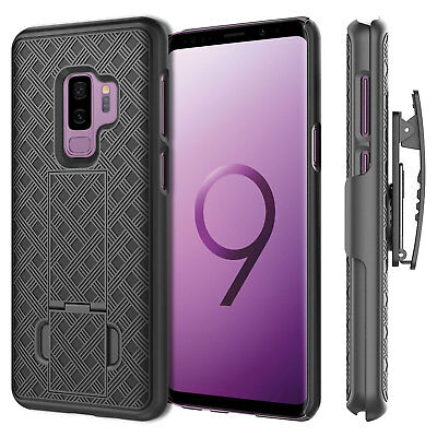 For Samsung Galaxy S9 Plus Holster Combo Case with Kickstand & Swivel Belt Clip