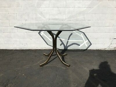 Dining Table Base Mid Century Modern Dinette Kitchen Hollywood Regency Gold