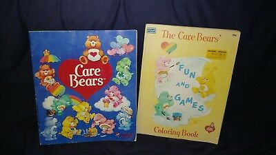 vintage care bears coloring and activity book lot