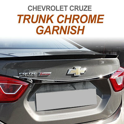 Rear Trunk Chrome Cover Molding Garnish Trim for CHEVROLET 2017 - 2018 Cruze