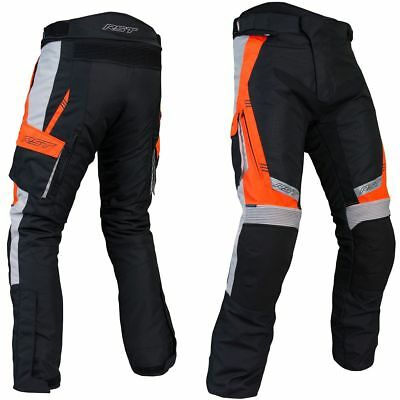RST Rallye CE Black / Fluo Red Motorcycle Motorbike Textile Trouser | All Sizes