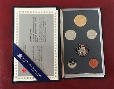 Kursmünzsatz 1991 Royal Canadian Mint Set in Kapsel, Zustand 1A