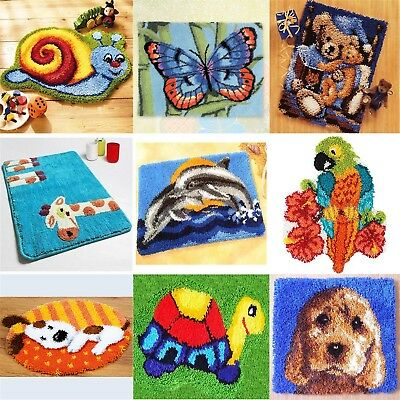 DIY Latch Hook Kits 16 models Needlecrafts  approx 20'' Rug Cute Animals Carpet