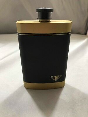 Jack Daniels Gold & Black Tennessee Honey Metal Flask -No Green Gold Medal