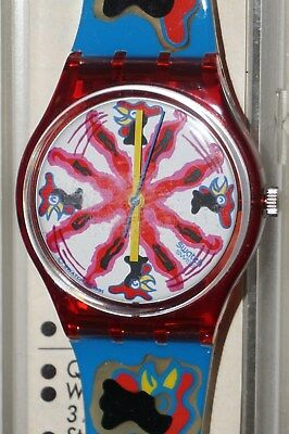 SWATCH GR 112 Zoo Loo Chichirichi Armbanduhr Design 1991 Uhr 7448 Swiss Box