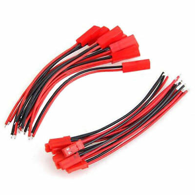 10Pair!! 10cm JST Connector Plug Cable Line Male +Female for RC BEC Lipo Battery