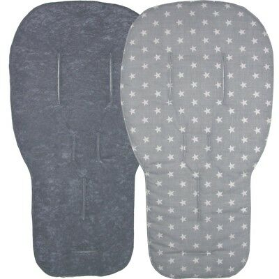 Jillyraff Reversible Seat Liners to fit Bugaboo pushchairs - Grey Designs