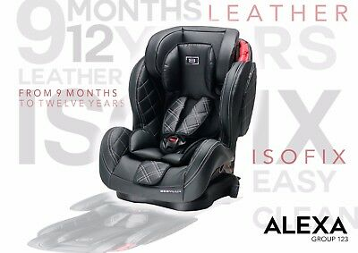 NEW Leather HUG GROUP 123 RECLINING CARSEAT ADJUSTABLE BABY CAR SEAT Uberchild