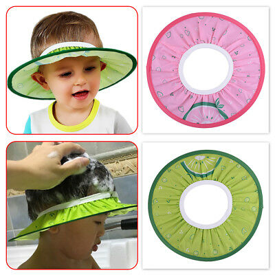Soft Elastic Shampoo Cap Baby Kid Child Wash Hair Bath Shower Protect Shield Hat