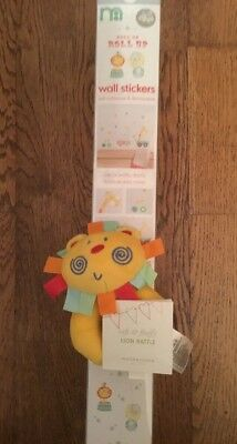 Mothercare Roll Up  Roll Up  Pack Of Wall Stickers & Soft & Fluffy Lion Rattle
