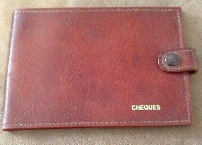 Vintage Sundew Hide 'Cheques' Wallet Holder ~ Made In England