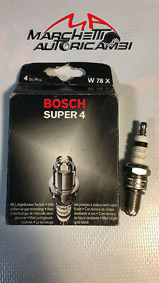 KIT 4 BOSCH CANDELE ACCENSIONE GPL GAS METANO DACIA DUSTER