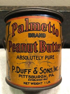 antique peanut butter tin