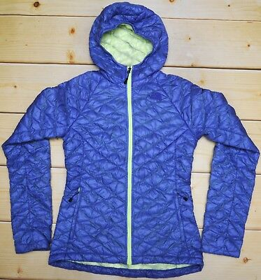 THE NORTH FACE THERMOBALL HOODIE - PRIMALOFT down WOMEN'S BLUE JACKET - S