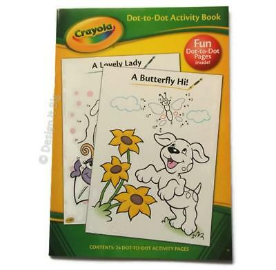 Crayola Book Puppy Cover Dot-To-Dot Activities 24 Pages Colouring Childrens Kids