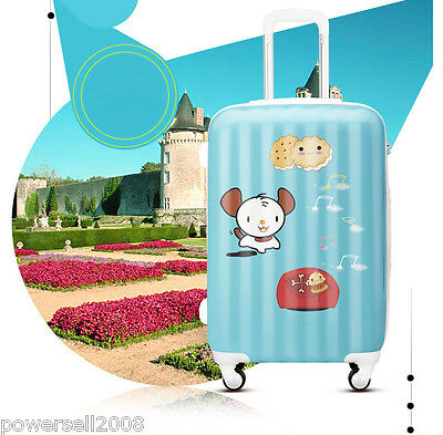 "#3 28"" New Cartoon Little Dog Universal Wheel ABS+PC Travel Suitcase Luggage LLX"