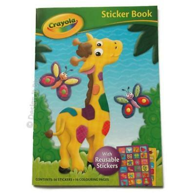 Crayola Giraffe Cover Sticker Book 56 Stickers and 16 Colouring Pages Kids Fun