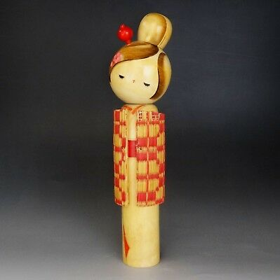 Wooden Doll KOKESHI Japanese Traditional Antique Vintage 03