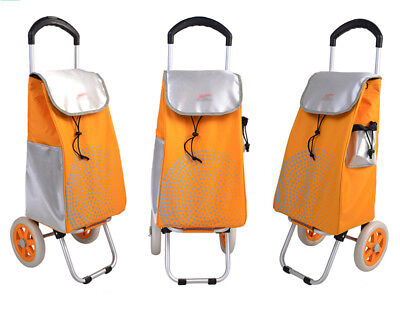 D128 Rugged Aluminium Luggage Trolley Hand Truck Folding Foldable Shopping Cart
