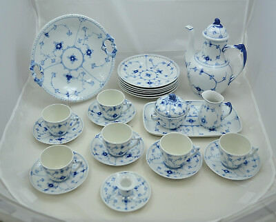 Bing & Grondahl - Bla malet Vollspitze - Blue fluted full lace - Kaffeeservice