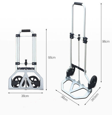 D19 Rugged Aluminium Luggage Trolley Hand Truck Folding Foldable Shopping Cart