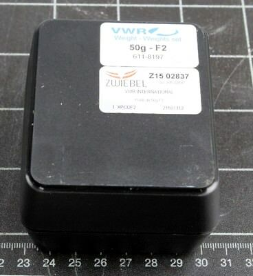 VWR Collection 50gram Calibration Weight, Class F2