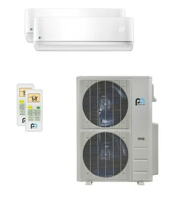 Perfect Aire 48,000 BTU 21.5 SEER Dual Zone Heat Pump Wall Mount