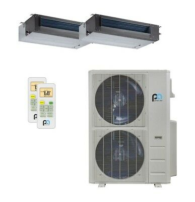 Perfect Aire 48K BTU 21.5 SEER Dual Zone Heat Pump Concealed Duct