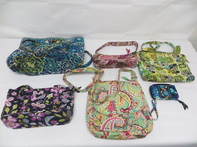 Pre-Owned Vera Bradley 5 Pc. Handbag/1 Wallet Lot- Various Styles/Sizes & Colors