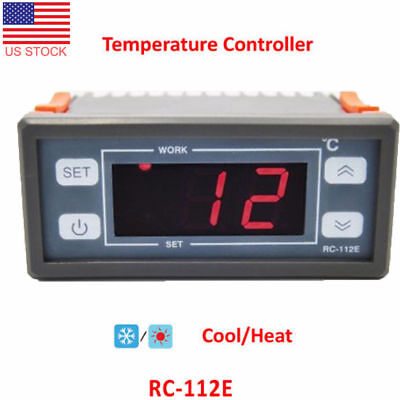 Digital Temperature Controller Thermostat AC10A110V LED Sensor for Incubator E9