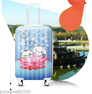 "#2 28"" New Lovely Little Dog Universal Wheel ABS+PC Travel Suitcase Luggage LLX"