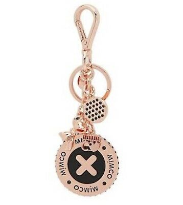 Mimco Rose Gold Button Up Keyring