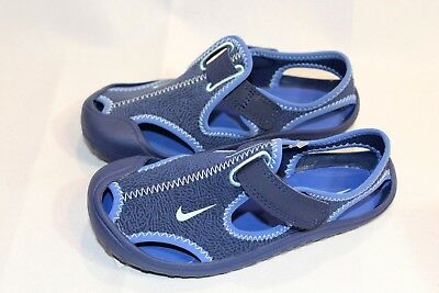 New Boys Nike Sunray Protect Blue athletic sandals/shoes