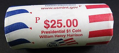 2009 P William H Harrison Presidential Dollar Roll  Mint Roll Head / Tail
